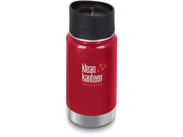 Klean Kanteen Wide Vacuum Insulated Bottle Café Cap 2.0 355ml mineral red